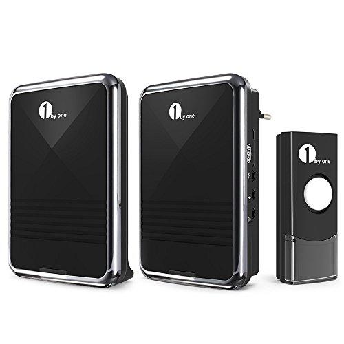 1byone Wireless doorbell Timbre inalámbrico, 2 timbres receptores...