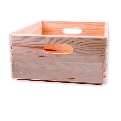Holzkiste Allzweckkiste 40x30x14 cm - Stapelbox Größe 3 kombinierbar