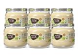 Nutribén Ecopotitos de Plátano y Manzana- Ingredientes ecológicos- Desde los 4 meses, Pack de 6 x 120gr