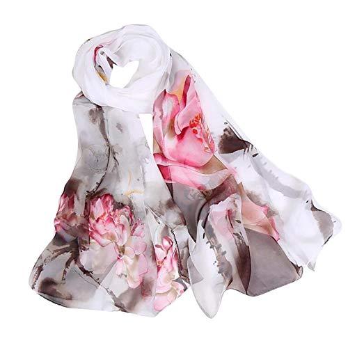 YWLINK Mode Blumen Drucken Strand Damen Schal Langer Weicher Wickelschal Mehrzweck Schals Pashminas Klassisch Elegant