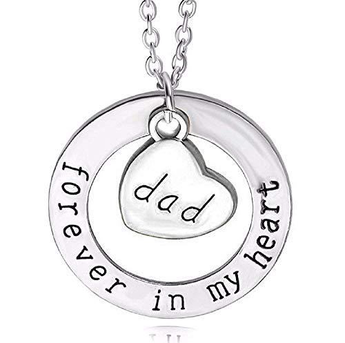 Ketting met cadeau-ideeën voor familie en familie - voor altijd in mijn hart - papa forever in my heart dad