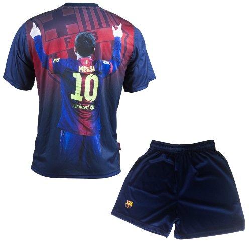 FC Barcelona - Conjunto oficial de camiseta y pantalones cortos (talla para...