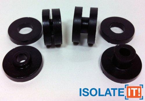 12 Pack Isolate It .13 ID - 0.5 OD - .13 Deep Sorbothane Vibration Isolation Washer 30 Duro