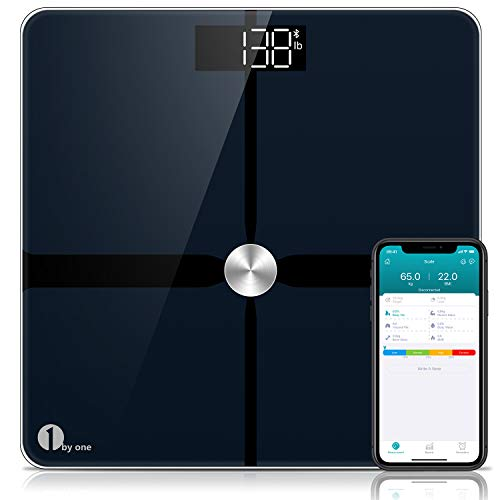 1byone Smart Bluetooth Body Fat Scales, ITO Digital Bathroom Scales Weighing...