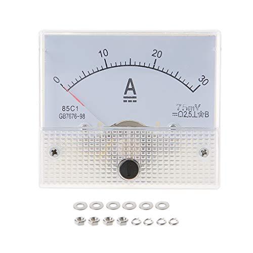 BASSK 85C1 Amperemeter DC Analog Current Meter Panel Mechanischer Zeiger Typ 1/2/3/30/50 / 100A 50/100/200 / 500mA