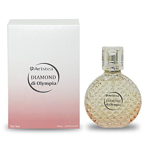 Aristea - Damen Eau de Parfum - Diamond di Olympia - holzig-orientalisches Parfüm - unvergesslicher Duft für Frauen - Perfume for Women and Girls (1 x 50 ml)