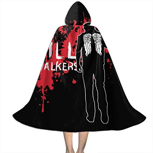 NUJSHF The Walking Dead Daryl Armbrust Unisex Kapuzenumhang Cape Halloween Weihnachten Party Dekoration Rolle Cosplay Kostüme