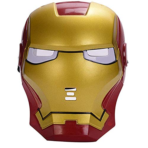 morningsilkwig Marvel Avengers Maschera Iron Man Maschera Alone Mente Luce Occhio Maschera Super Eroe Ironman Party Maschera per Feste di Halloween