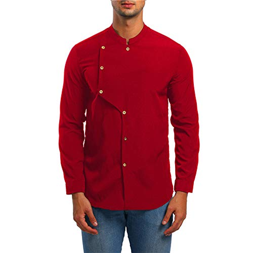 Dubai Style Herren Langarmshirts Knöpfe Bequeme Lose T-Shirts Herbst Winterurlaub Performance Kostüme Zirkus Kostüme Chef's Wear