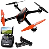 Force1 Drones with Camera and GPS – B2W Shadow MJX Bugs 2 Long Range Drone for Adults and Kids w/ 1080P HD Camera, Auto Return and Extra Battery