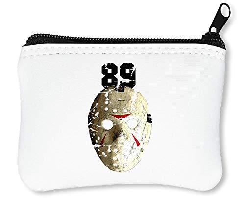 Ice Hockey Mask | | Creepy | Scary | Horror Reißverschluss-Geldbörse Brieftasche Geldbörse