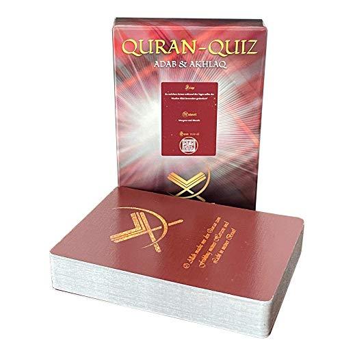 Islamisches Spiel Quizkarten Quran Fragen über Koran und Islam inklusive eigene App (Adab & Akhlaq)