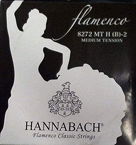 Hannabach Cuerdas para Guitarra Clásica, Serie 827 Tensión Media Flamenco Classic - cuerda suelta H/B2