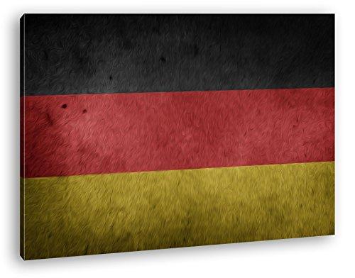 deyoli Deutsche Flagge Effekt: Zeichnung Format: 60x40 als Leinwandbild, Motiv fertig gerahmt auf Echtholzrahmen, Hochwertiger Digitaldruck mit Rahmen, Kein Poster oder Plakat