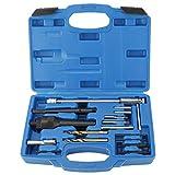 FreeTec 16pcs Kit d'outils de réparation de filetage Bougies de préchauffage M8 M10 Compatible avec Mercedes, CDI, Audi VW et Opel