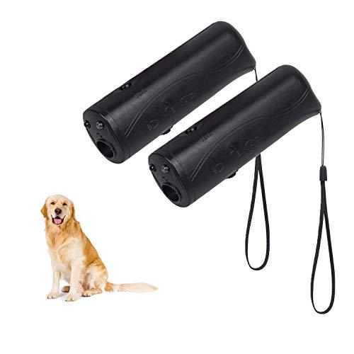 YHmall 3 En 1 De Perro de Mano Dispositivo de Entrenamiento de Controlador de Ladridos de Perro Disuasor Ultrasónico