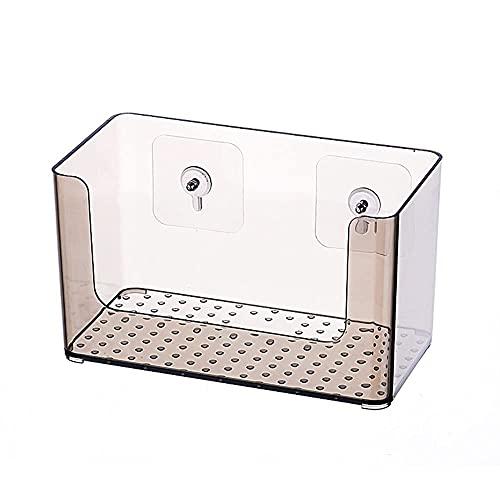 WGFGXQ Estante de baño Organizador Cesta Estante de Ducha montado en la Pared Productos Esenciales para el baño Maquillaje Soporte de champú Estante de baño (Color: Gris)