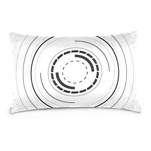 LORONA Hud Sci Fi Funda de almohada con diseño de espacio de exhibición, fundas de almohada de lino para decoración del hogar, funda de cojín con cremallera invisible para sofá y cama, terciopelo, Multicolor, 20x36 Inches/ 50x91 CM
