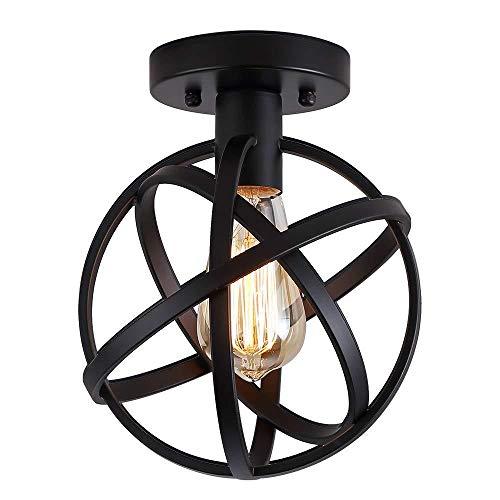 Lámpara de techo Vintage, Retro Colgante de Techo Luz E27 para Iluminación Dormitorio Cocina Sala de estar Loft Comedor Baño 20CM
