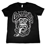 Officially Licensed Merchandise Gas Monkey Logo Kids T-Shirt - Black 11/12 Years
