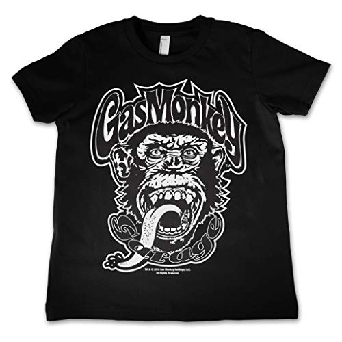 Officially Licensed Merchandise Gas Monkey Logo Kids T-Shirt - Black 9/10 Years