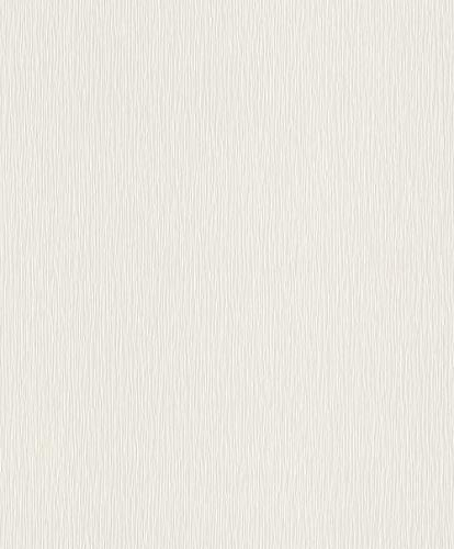 Rasch Tapeten Vliestapete (universell) Weiß 10,05 m x 0,53 m Tapetenwechsel 809008 Tapete, 10.05 0.53 m