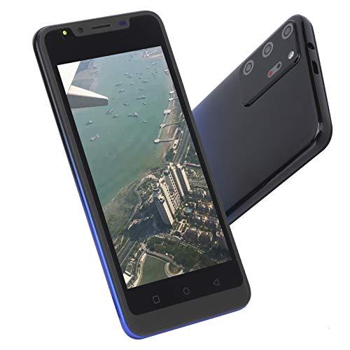CUYT Smartphone Sbloccato, Note30 Plus 512MB+4GB 5,0 Pollici Ampio Schermo Dual SIM WiFi/BT/FM/GPS Cellulari Impronta Digitale Face ID Telefono Cellulare Android, Fotocamera HD, Espansione 128GB(Blu)