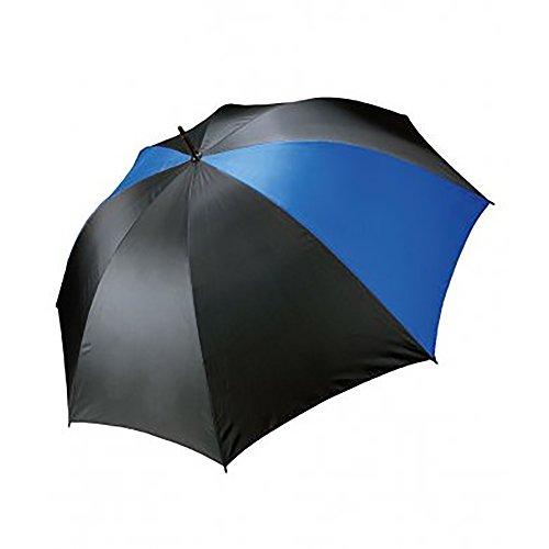 Kimood Storm - Paraguas de golf de apertura manual (Talla Única/Negro/Azul Royal)
