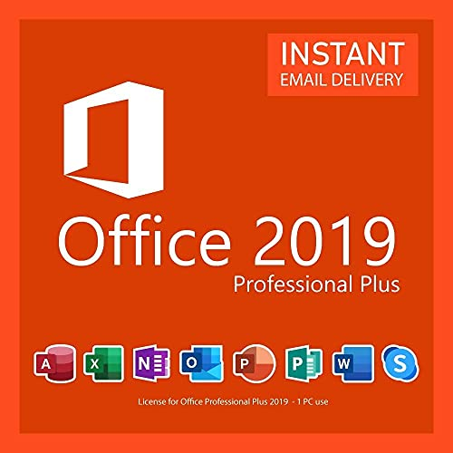 Office 2019 Professional Plus Lifetime 1PC License Key (Email Delivery) No Media