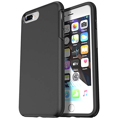 Krichit Phone Protective Case, Ongoing Series iPhone 8 Plus Cases & iPhone 7 Plus Case, Anti-Drop Shock Absorption Bumpers, Slim Sleek Design Cell Phone Cover Case (iPhone 7/8 Plus, Black)