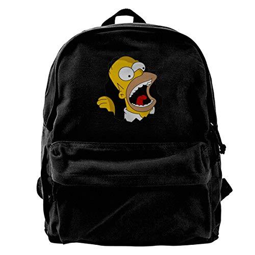 HsHdesign Classic Student Backpacks for School Tear Background Unisex Canvas Shoulders Bag