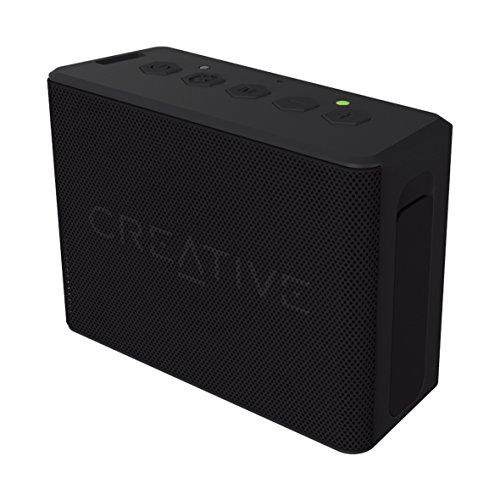 Creative MUVO 2c - Leistungsstarker, kompakter, wetterfester Wireless Bluetooth Lautsprecher (für Apple iOS/Android Smartphone, Tablet/MP3) schwarz