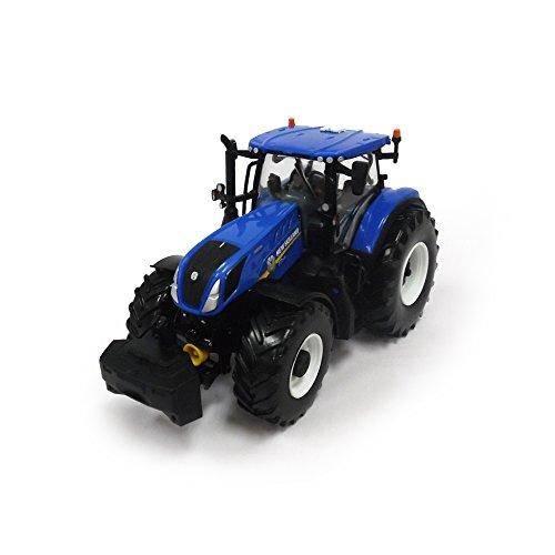 Tomy Britains New Holland, T7 315 Kindertractor met in hoogte verstelbare achterhydraulische en bestuurbare vooras, hoogwaardige tractor voor kinderen vanaf 3 jaar