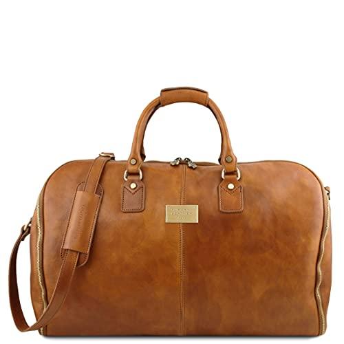 Tuscany Leather Antigua - Maleta de Viaje/Porta Trajes en Piel - TL141538 (Natural)