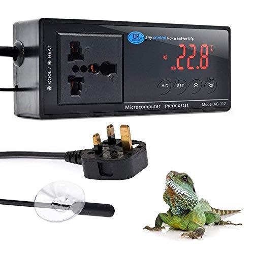 NEKOSUKI Reptile Terrarium Thermostat Controller, Upgrade Digital LED...