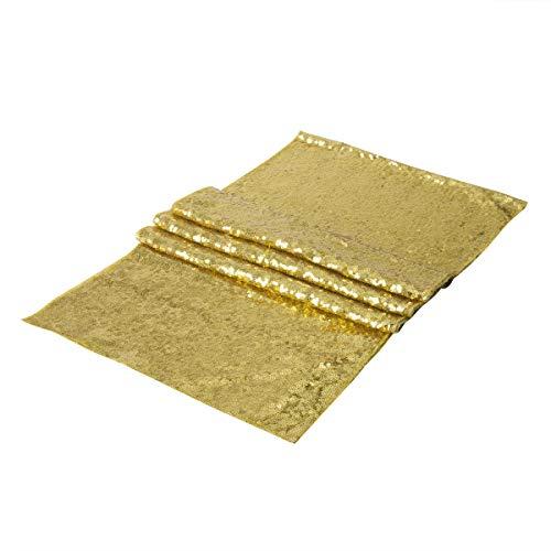 DXNXLLY Decoración hogareña Evento/Fiesta/Boda Lentejuelas de Oro Camino de Mesa de Plata/Corredores de la Tabla A/Banquetes/Boda de la Navidad Tabla Decoraiton (30 cm por 180 cm) para decoración de