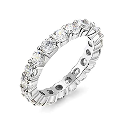 NYC Sterling 3.00mm Round Cubic Zirconia Luxury Eternity Band (5)