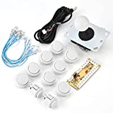 Usb Port 100%Zero Delay DIY Kit for Mame Game DIY Parts Zero Delay Arcade Game、for Arcade PC Game DIY Project、for Windows Systems(white)