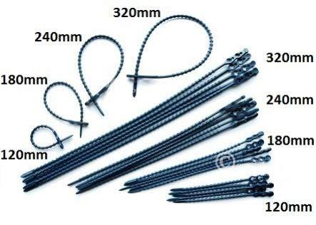 Detektierbare Blitzbinder Schnellbinder (Kabelbinder/Cable ties) - 100 Stk. - wiederverschließbar - detektierbar - detectable - versch. Größen - (240)