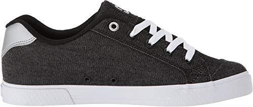 DC Women's Chelsea TX SE Skate Shoe, Black/Anthracite, 5 B US