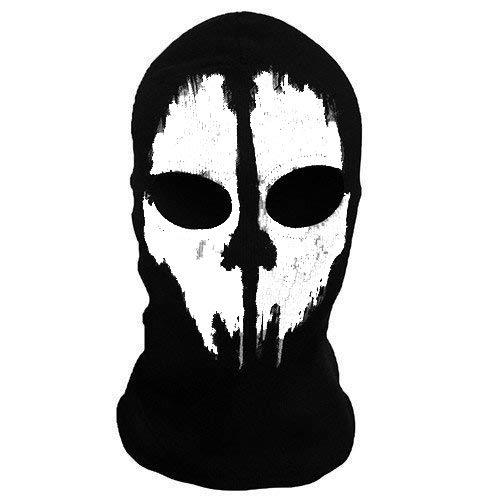 'Slaughter' 2Loch, Wolle Zorro Ninja, Fancy Kleid Kostüm 1Größe Senior, Sturmhaube Ghost Face Maske Skull Bike Motorrad Helm Kapuze Ski Sport Hals Gesicht Maske Halloween Horror