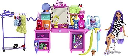 Barbie Extra Set de juego para muñecas, con luces y sonidos y accesorios de moda de juguete, regalo para niñas y niños +3 años (Mattel GYJ70)