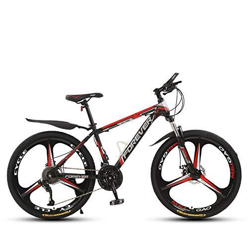 WLWLEO Mens Bicicleta de montaña 26 Pulgadas de Bicicletas de montaña Rígidas con suspensión Delantera Asiento cómodo Que Absorbe los Golpes para Bicicleta para Adultos Adolescentes,D,26' 24 Speed