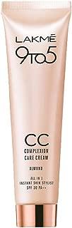 LAKME 9 to 5 Complexion Care CC Cream Foundation, Almond - 30 gm