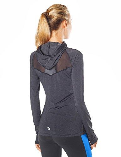 Baleaf Women's 1/2 Zip Running Shirt Mesh Cool Workout Jacket Blue Size M