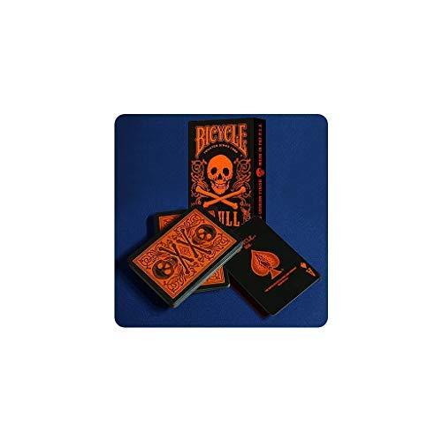 Bicycle Skull Metallic (Orange) USPCC by Gambler's Warehouse - Trick