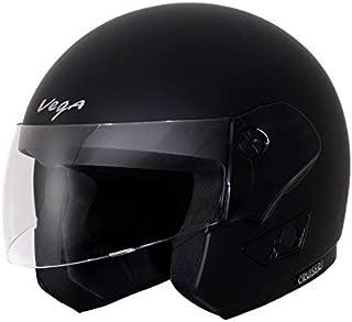 Vega Cruiser Open Face Helmet (Dull Black, M)