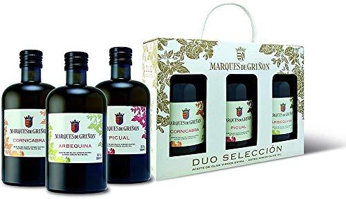 MARQUES DE GRIÑON - Estuche aceite de oliva virgen extra (picual, arbequina, cornicabra). Formato 500 ml, 0