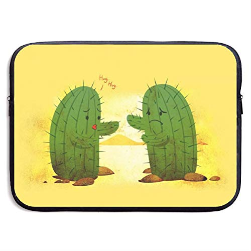 Hard to Embrace Cactus Couple Laptop Sleeve Bag Case,Laptop Briefcase Soft Carring Tablet Travel Case,13 inch
