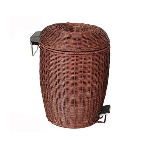 cesta con tapa con efecto mimbre fabricante LJF